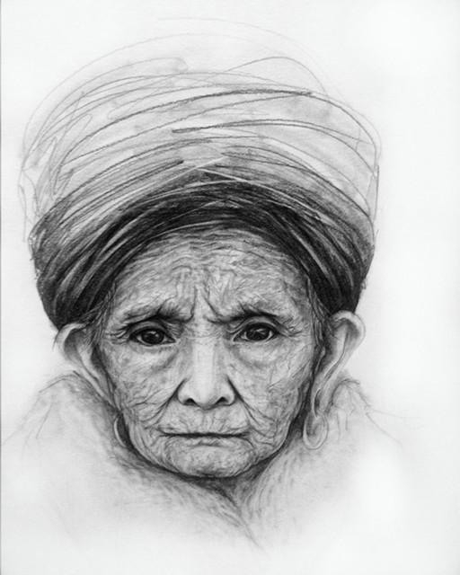 Woman Portrait Pencil Drawing - Contemporary - Fine Art ...