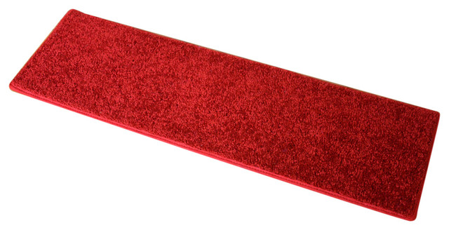 Non Slip Carpet Stair Treads, Fire Engine Red, Set Of 15 Contemporary