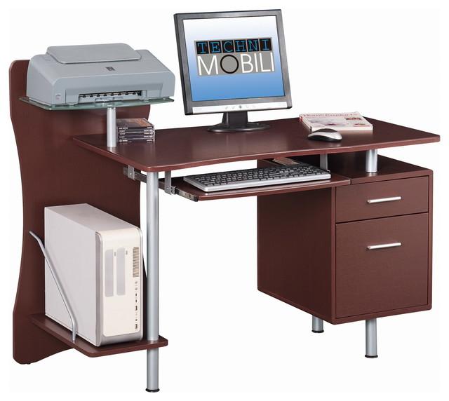 Techni Mobili Computer Desk Chocolate Transitional