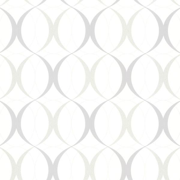 Circulate White Retro Orb Wallpaper Bolt