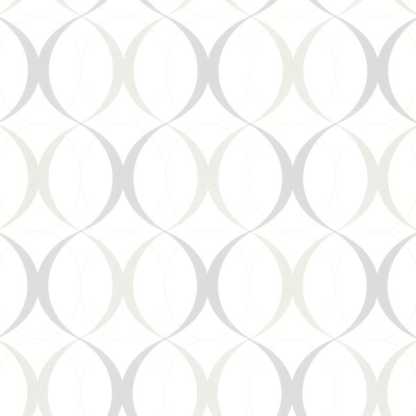 Shop Houzz Brewster Home Fashions Circulate White Retro