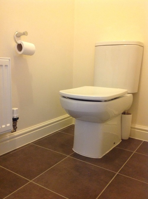be a nicer radiator  a new white vanity unit and sink  new led light  and a fresh hand of paint to door door frame and  skirting board if we keep  them. Downstairs toilet