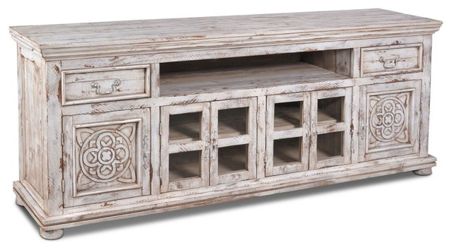Keystone Carved 82 Quot Tv Stand Entertainment Console