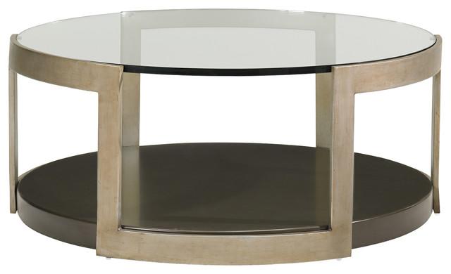 sonja industrial loft gold metal round glass coffee table