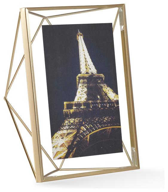 """Prisma Photo Frame, Matte Brass, 5""""x7"""""""