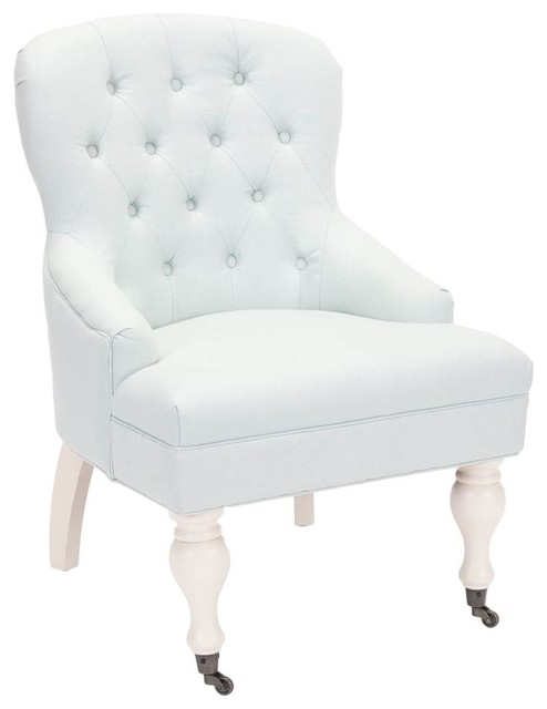 Madeline Arm Chair Robin Egg Blue Traditional