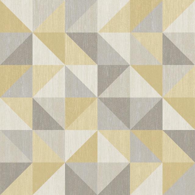 Jigsaw Yellow Geometric Peel And Stick Wallpaper Modern - Modern wallpaper