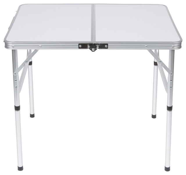 Folding Table With Handle.Lightweight Adjustable Portable Folding Aluminum Camp Table With Carry Handle