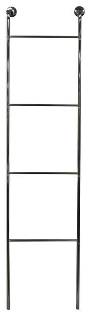 Ladder Chrome Wall Mounted 4-Rung Towel Rail, Silver