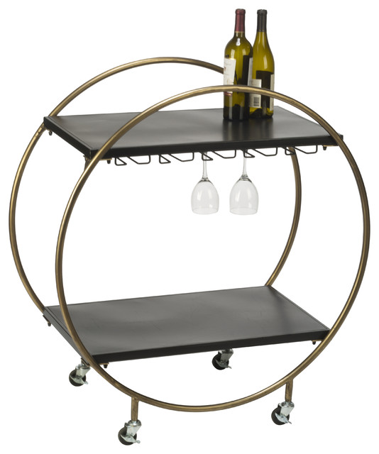 Retro Rolling Bar Cart.