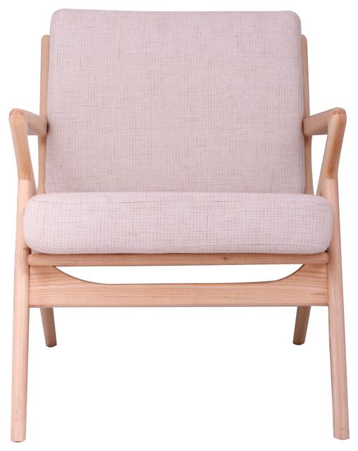 Salt & Pepper Gray Zain Chair, Pearl White