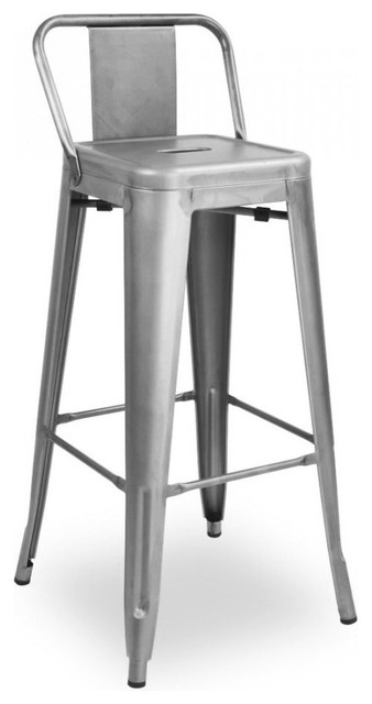 Superb Design Lab Mn Dreux Steel Low Back Bar Stools Set Of 4 Clear Gunmetal Andrewgaddart Wooden Chair Designs For Living Room Andrewgaddartcom