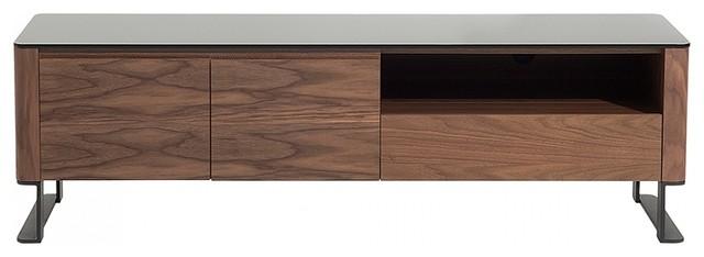 Elvas Glass Top TV Stand, Brown