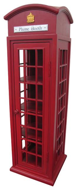 Mahogany London Mini Telephone Display Case.