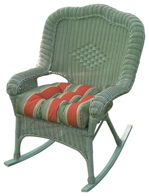 Wicker Resin Steel Patio Rocking Chair Set Of 2