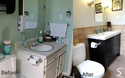 Small Bathroom Gets A Facelift - Bathroom facelift