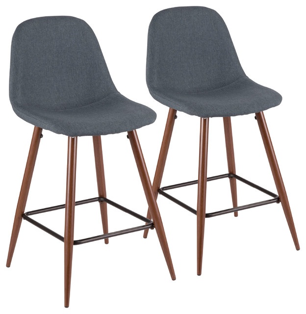 Lumisource Pebble Counter Stool Set Of 2 Midcentury