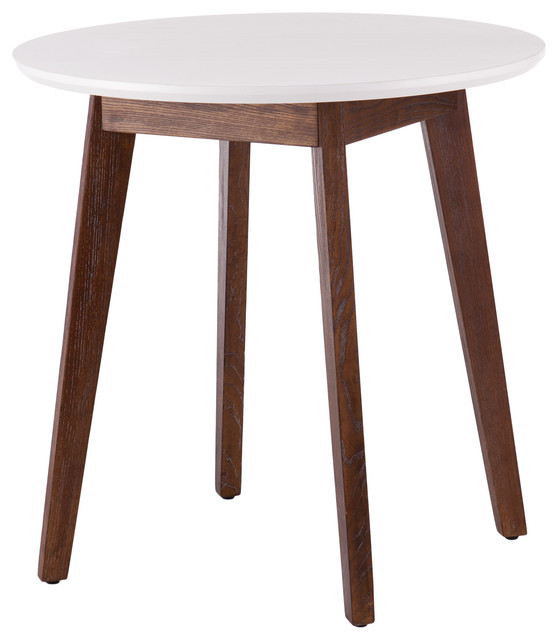 Oden Table, White With Burnt Oak by Southern Enterprises
