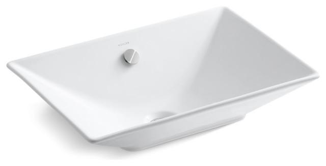 Kohler Reve Vessel Bathroom Sink, White.