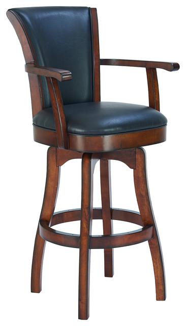 Brilliant Raleigh 26 Swivel Counter With Arms Rustic Cordovan Brown Bonded Leather Creativecarmelina Interior Chair Design Creativecarmelinacom
