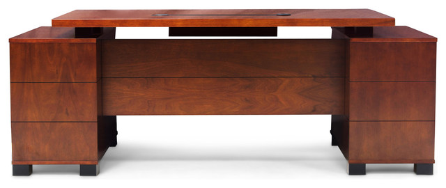 Ford Executive Desk With Cabinet Light Wood Contemporary Desks And Hutches