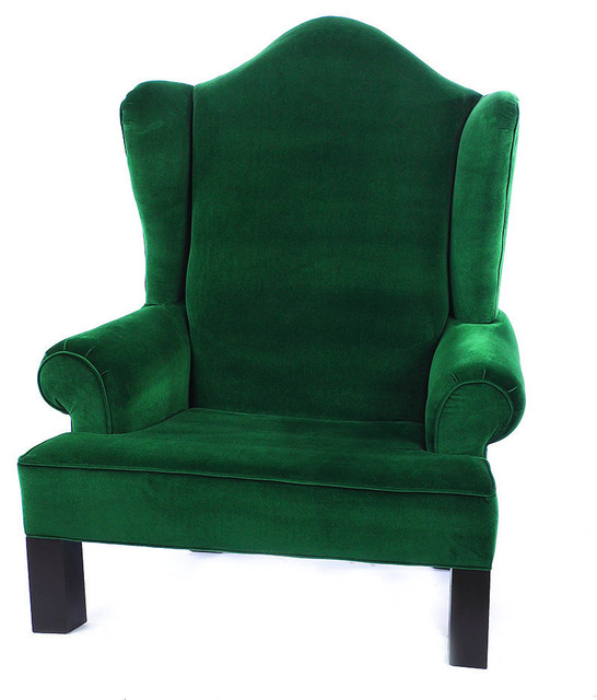 Wing Back Santa Chair Traditional Armchairs And Accent