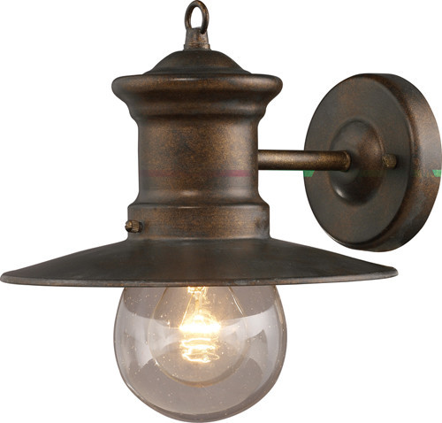 Maritime 1-Light Outdoor Wall Light, Hazelnut Bronze industrial-outdoor-wall-lights-and-sconces