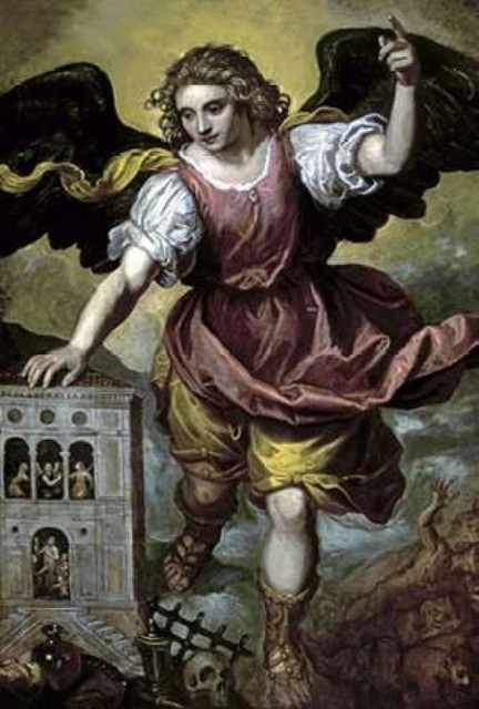 """""""the Archangel St. Michael"""" Poster Print By Mexican School."""