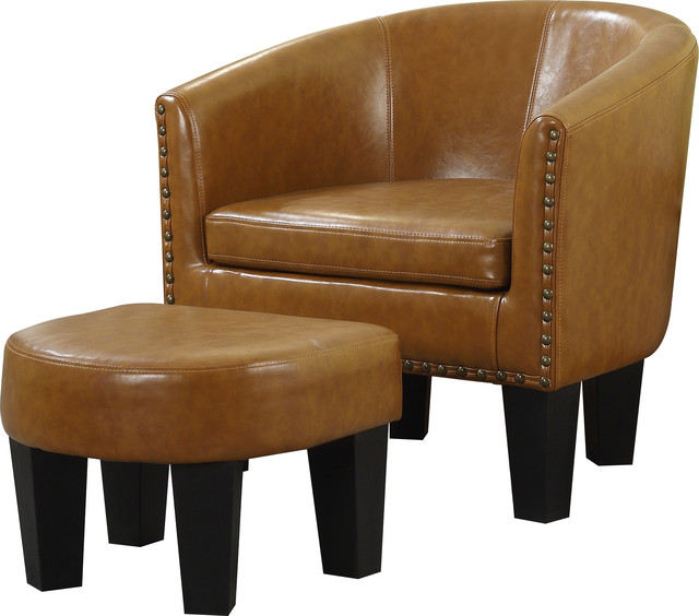 Barrel Chair And Ottoman Set Armchairs And Accent Chairs
