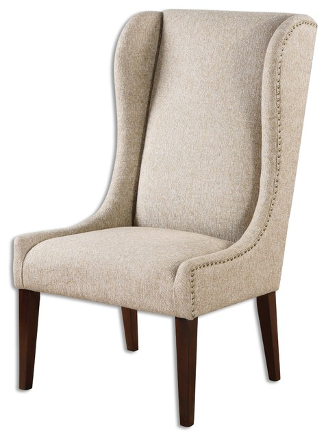uttermost kriston wingback armless chair chairs