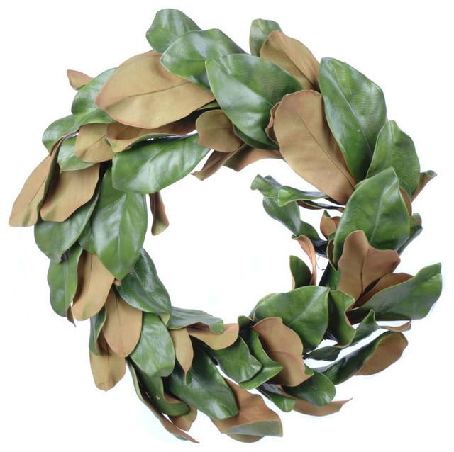 Artificial Magnolia Leaf Wreath.