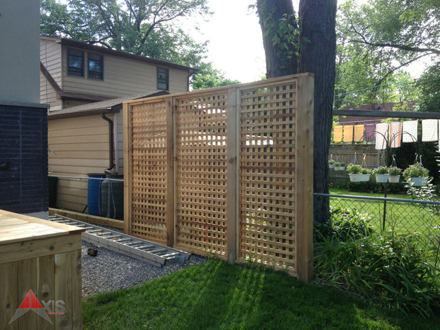 Cedar lattice privacy screen for Deck privacy screen panels