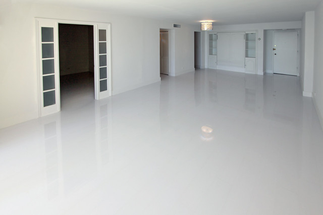 . White Glossy Laminate Floors   Modern   Miami   by Glace Floors