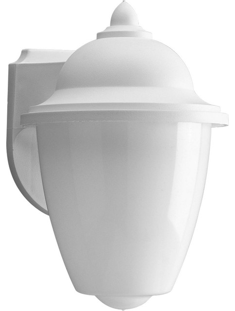 Progress Lighting 1-18w Gu24 Cfl Wall Lantern, White.