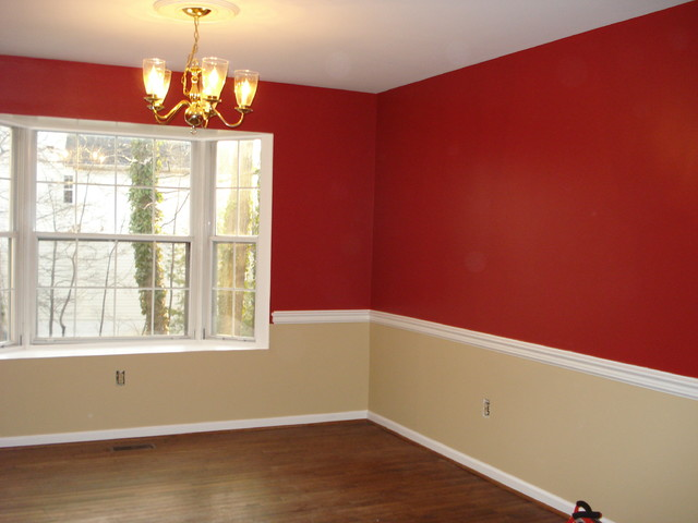 Lovely After Red And Tan Dining Room Family Room