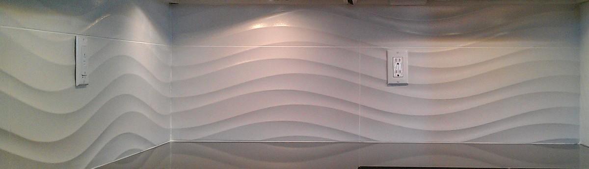 Kitchen Backsplash Granite Counter And Travertine Subway Tile
