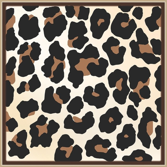 "12""x12"" Flooradorn Leopard Skin Tiles, Set Of 24."