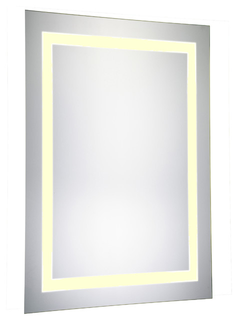 LED Hardwired Mirror Rectangle W20H40 Dimmable 3000K by Elegant Furniture & Lighting