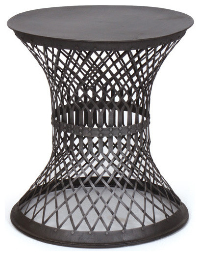 Lovely Iron Lattice Side Table