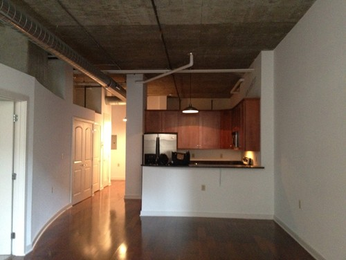 Condo loft lighting concrete ceilings help for Condo ceiling design