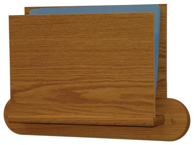 Single Open End Letter Size File Holder - Oval Mount ...