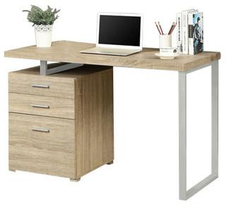 computer desk dark taupe reclaimed look l shaped corner desk transitional desks and hutches. Black Bedroom Furniture Sets. Home Design Ideas