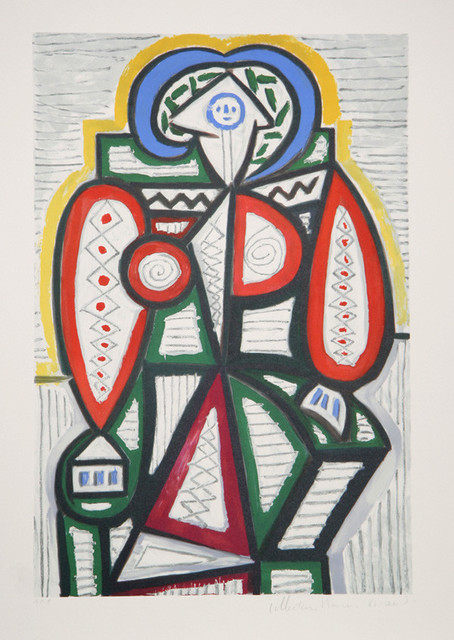 Pablo Picasso Femme Assise 25 10 Lithograph
