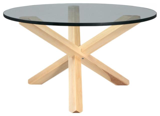 Tripod Midcentury Modern Wood Coffee Table Midcentury Coffee
