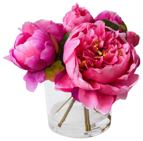 Fresh Cut Faux Peony Hot Pink