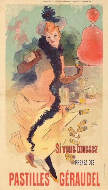 """""""pastilles Geraudel Vintage Poster France 1891"""" Print, 24""""x36"""". -1"""