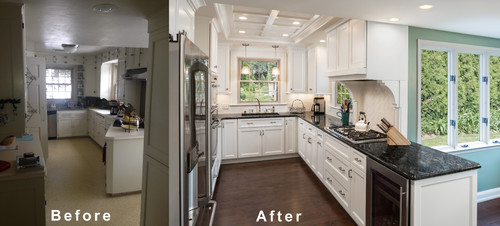 Colonial Kitchen Renovation Before After - Kitchen before and after remodels