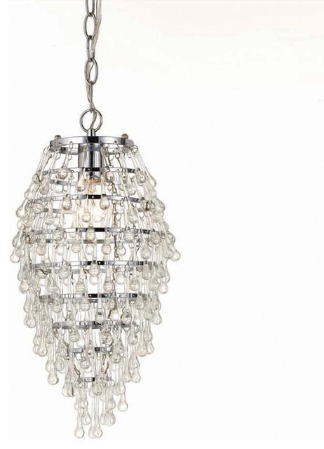 Af Lighting 8122-1H Elements Crystal Teardrop Mini Chandelier chandeliers