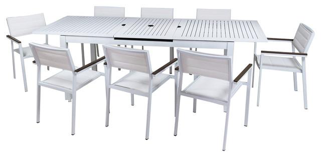 Avallon 9-Piece Dining Set, Bianco.