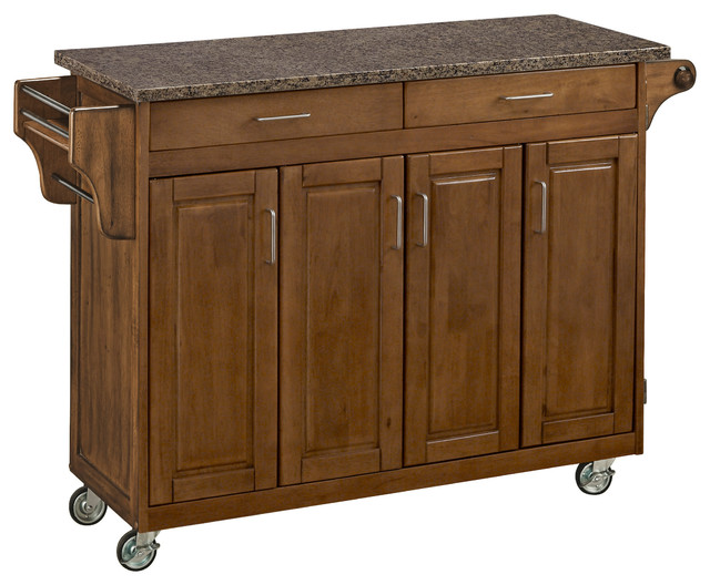 create a cart in cottage oak finish transitional